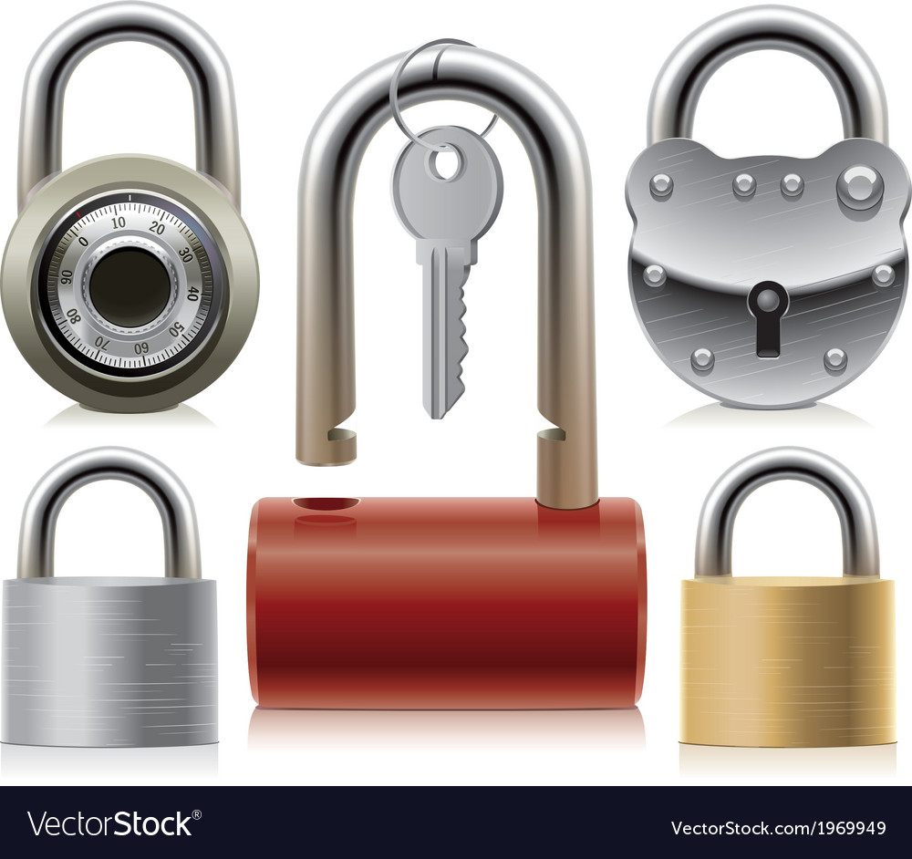 Set of padlocks vector | Price: 1 Credit (USD $1)