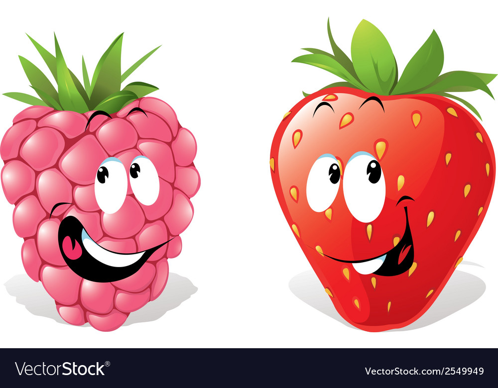 Strawberry and raspberry vector | Price: 1 Credit (USD $1)