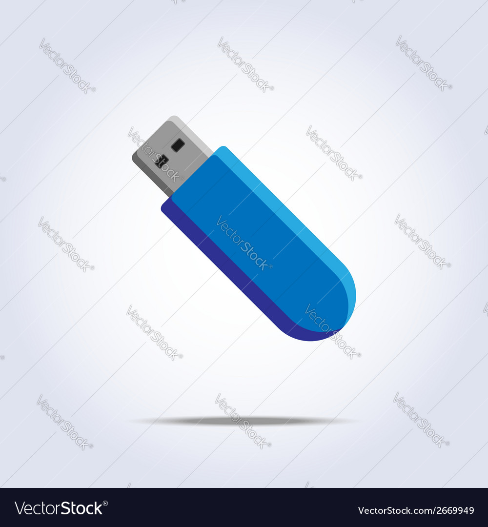 Usb flash card icon vector | Price: 1 Credit (USD $1)