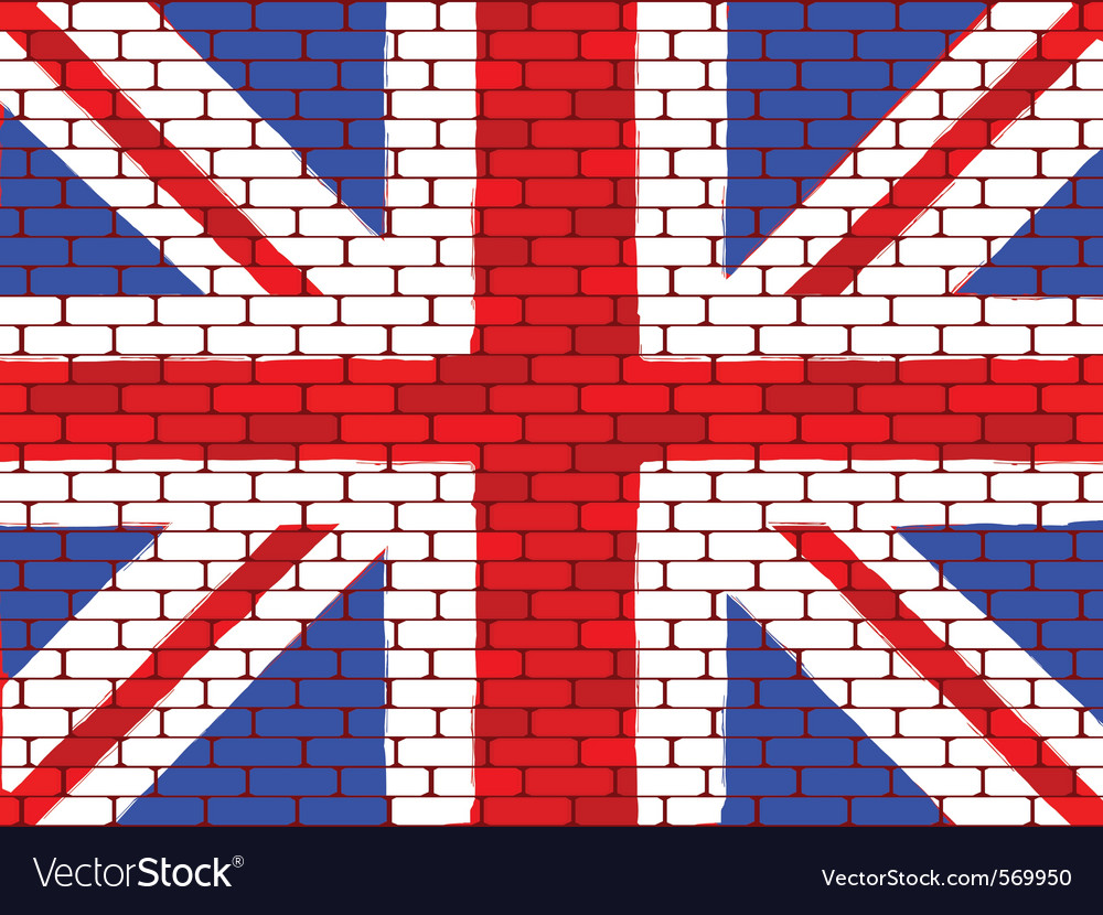 Brick english flag vector | Price: 1 Credit (USD $1)