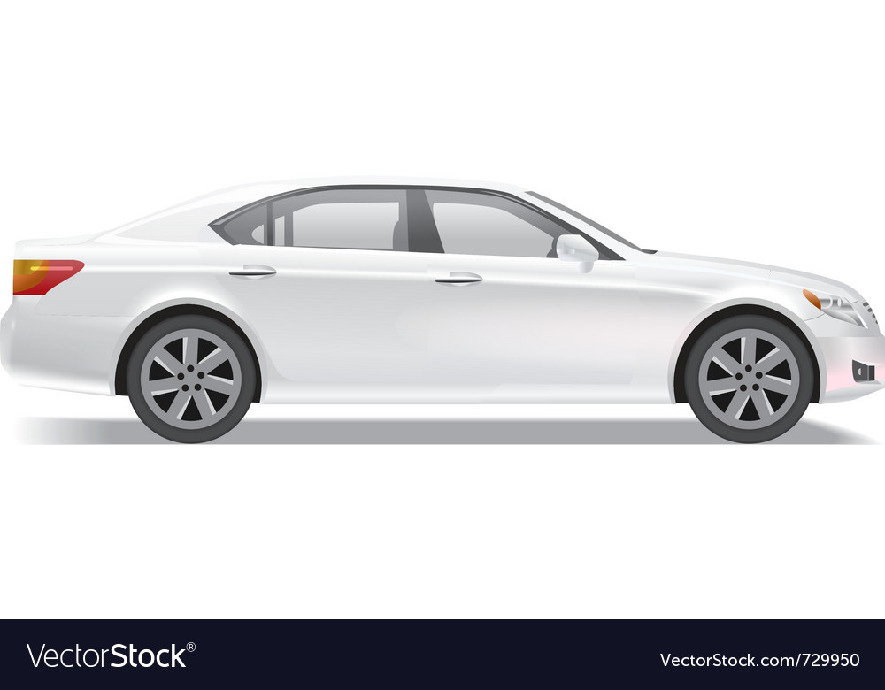 Business class sedan vector | Price: 1 Credit (USD $1)