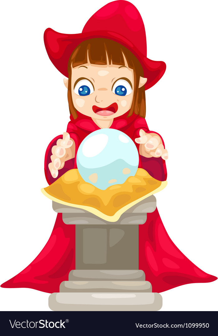 Fortune teller with crystal ball vector | Price: 1 Credit (USD $1)