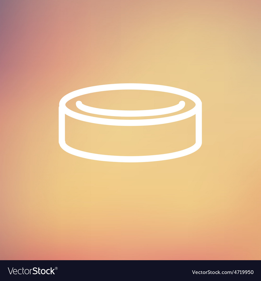 Hockey puck thin line icon vector | Price: 1 Credit (USD $1)
