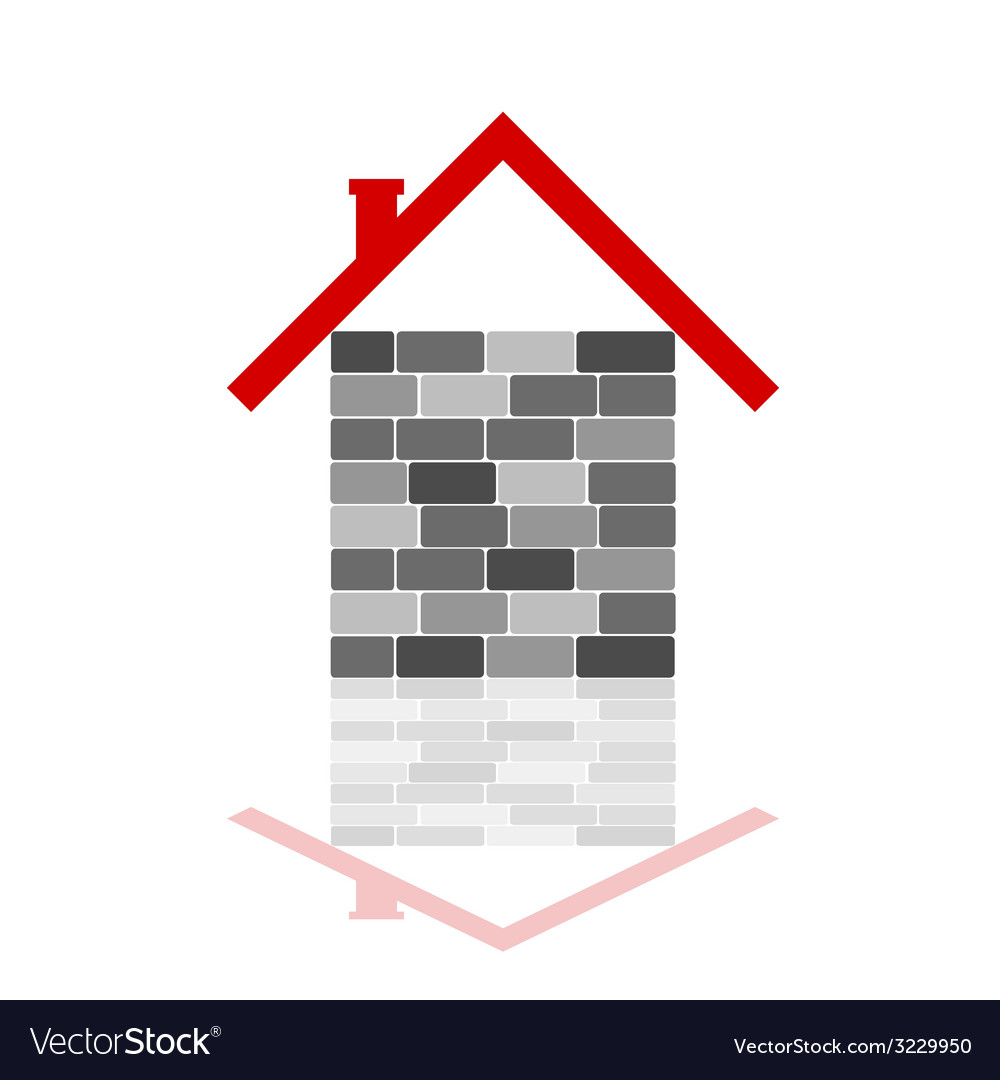 House with gray brick vector | Price: 1 Credit (USD $1)