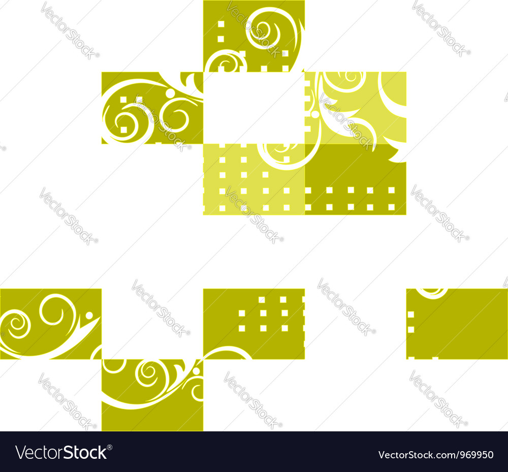 Pattern green background vector | Price: 1 Credit (USD $1)
