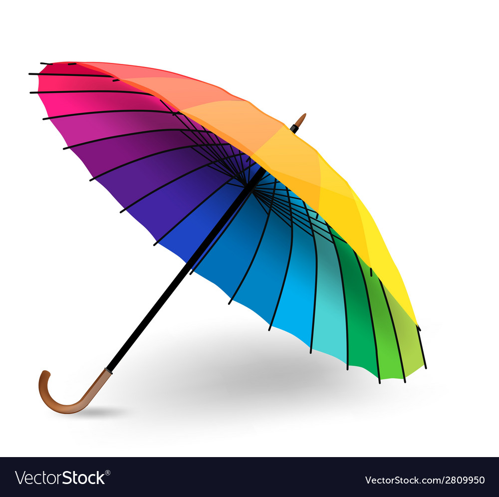 Rainbow umbrella vector | Price: 1 Credit (USD $1)