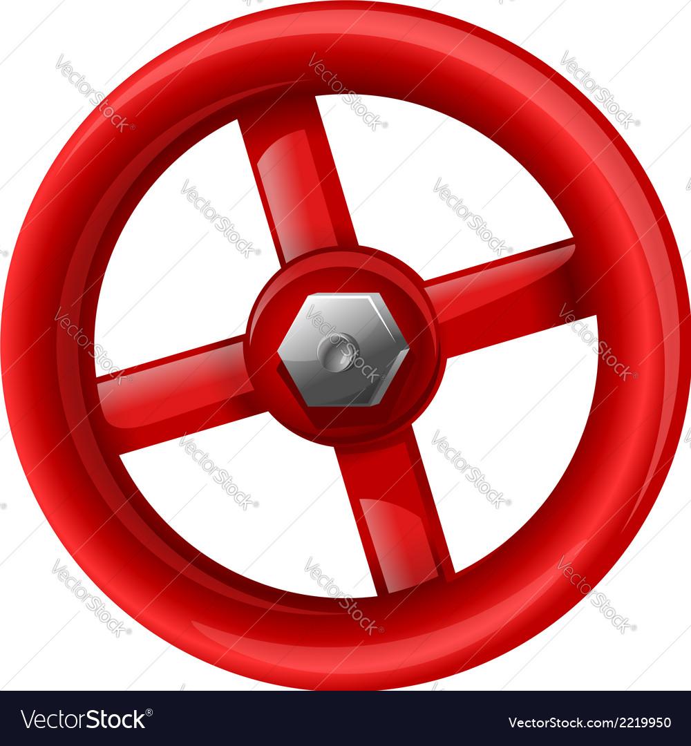 Red valve vector   Price: 1 Credit (USD $1)