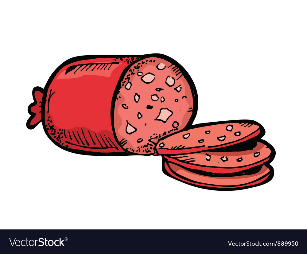 Salami vector | Price: 1 Credit (USD $1)