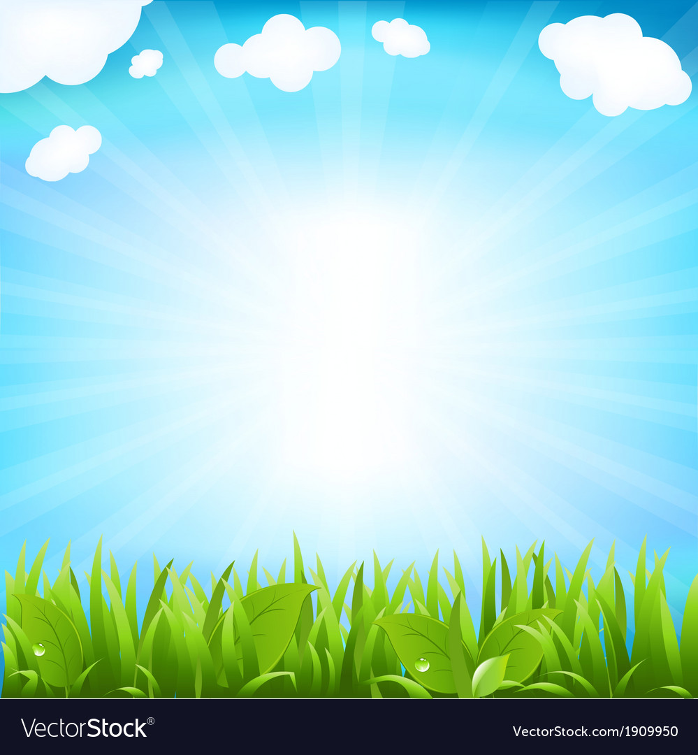 Sky with beams and sprout vector | Price: 1 Credit (USD $1)