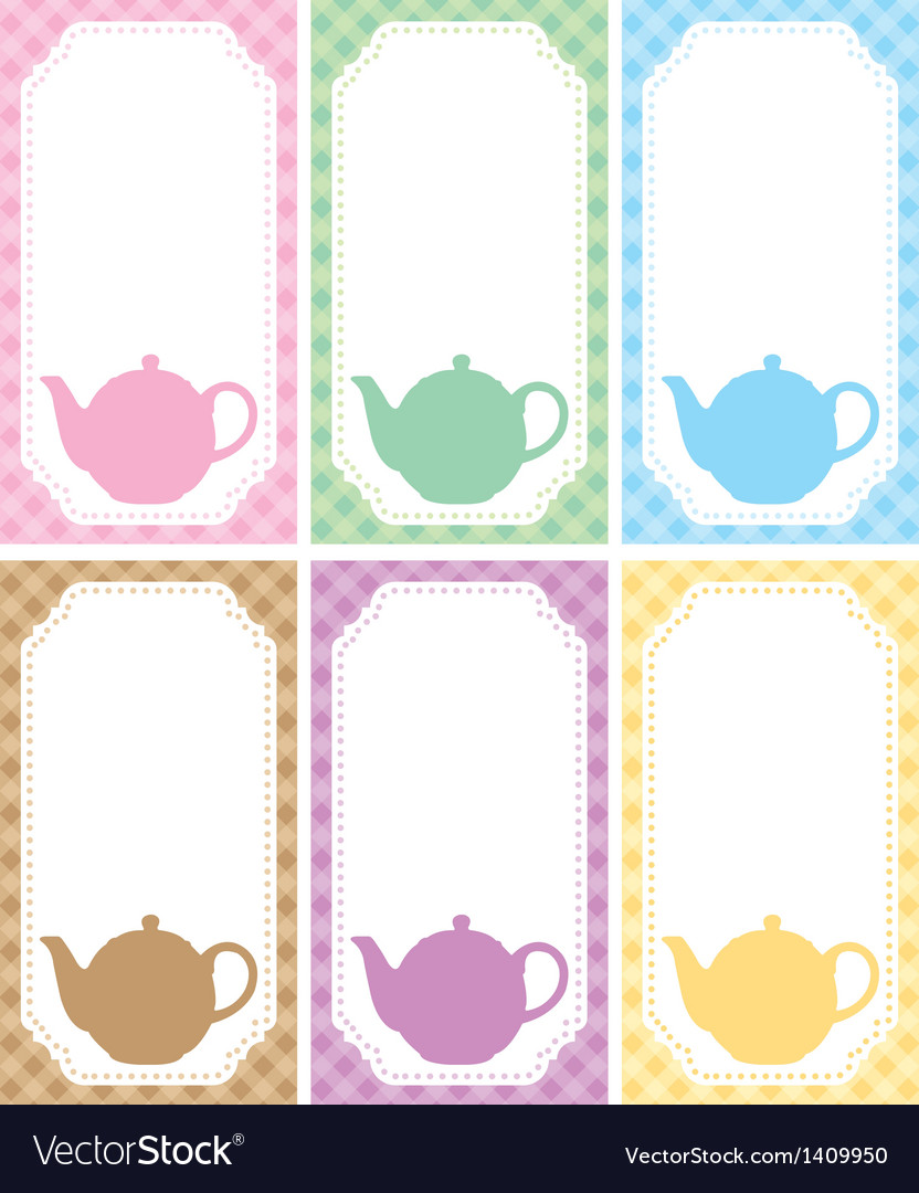 Tea label vector | Price: 1 Credit (USD $1)