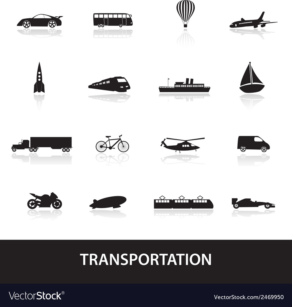 Transportation icons eps10 vector | Price: 1 Credit (USD $1)
