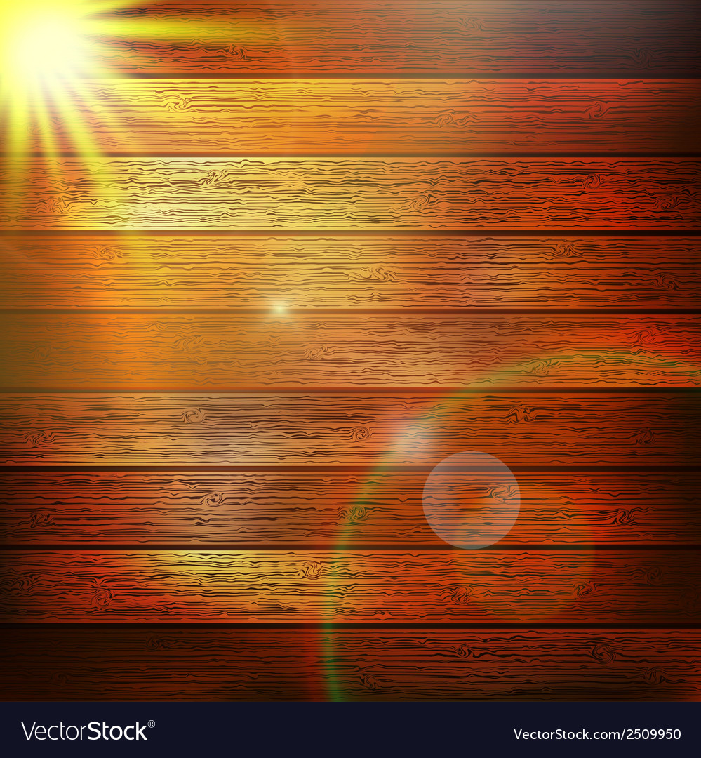 Wooden boards with sun light plus eps10 vector | Price: 1 Credit (USD $1)