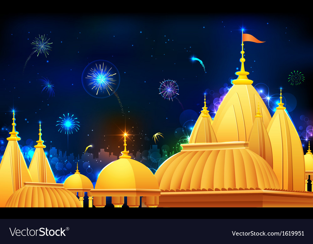 Diwali night vector | Price: 1 Credit (USD $1)
