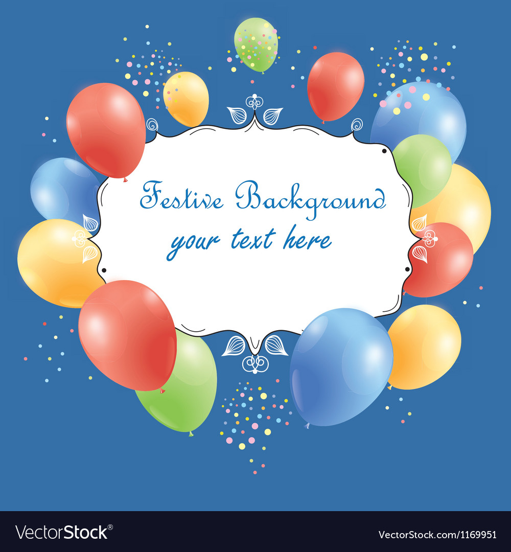 Festive background with balloons vector | Price: 1 Credit (USD $1)