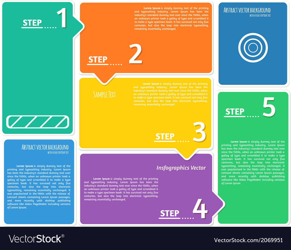 Flat style infographics background vector   Price: 1 Credit (USD $1)