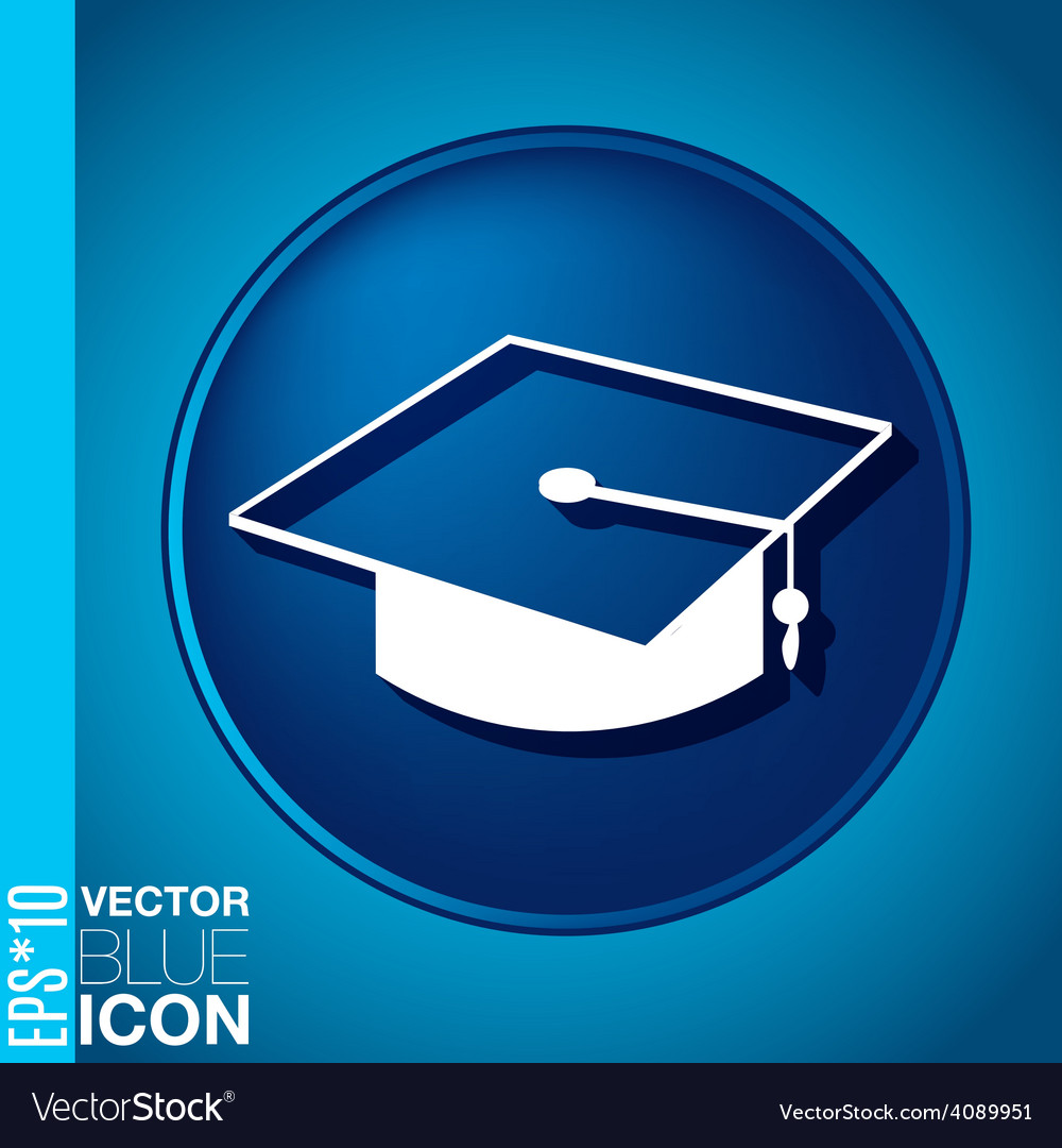 Graduate hat education sign symbol icon college or vector | Price: 1 Credit (USD $1)