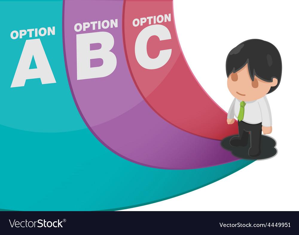 Man determine way choice presentation vector | Price: 1 Credit (USD $1)