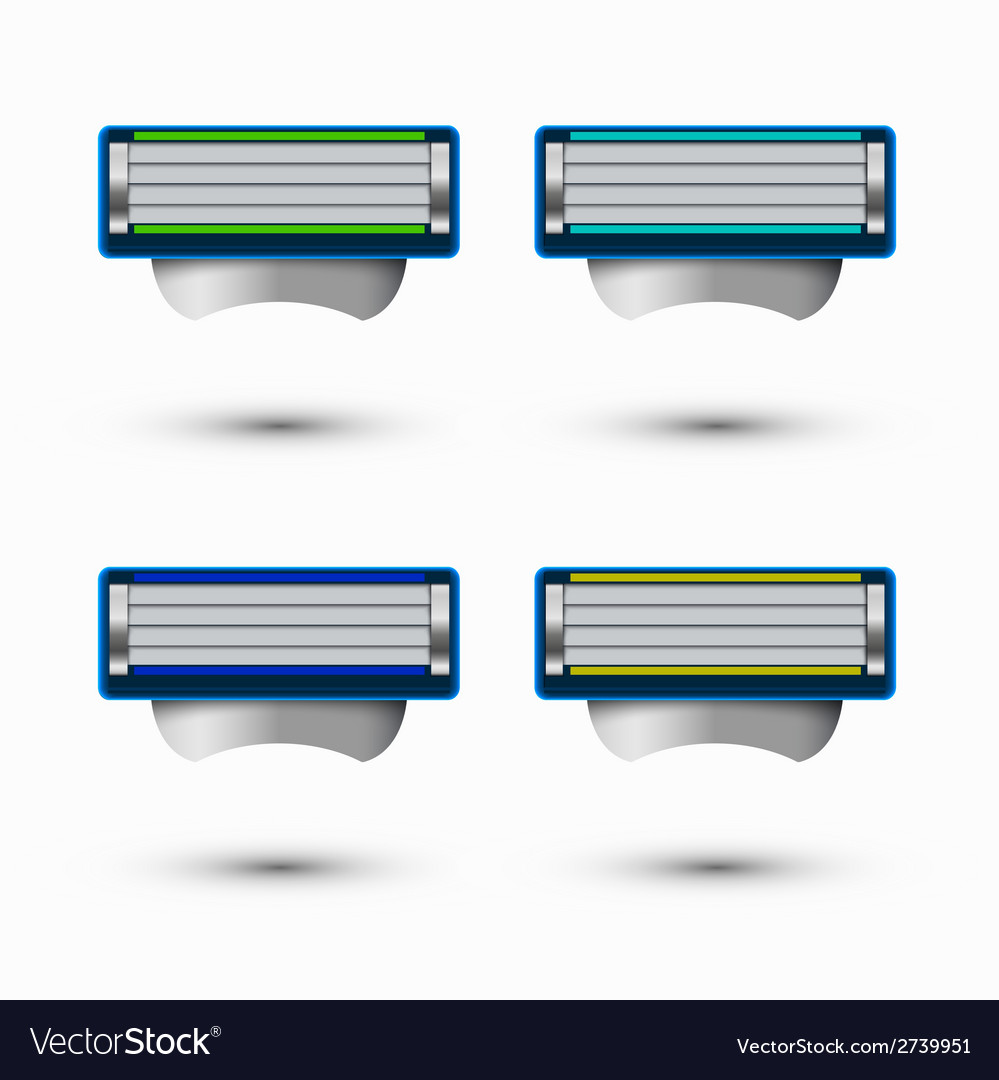 Modern razor icons set on white background vector | Price: 1 Credit (USD $1)