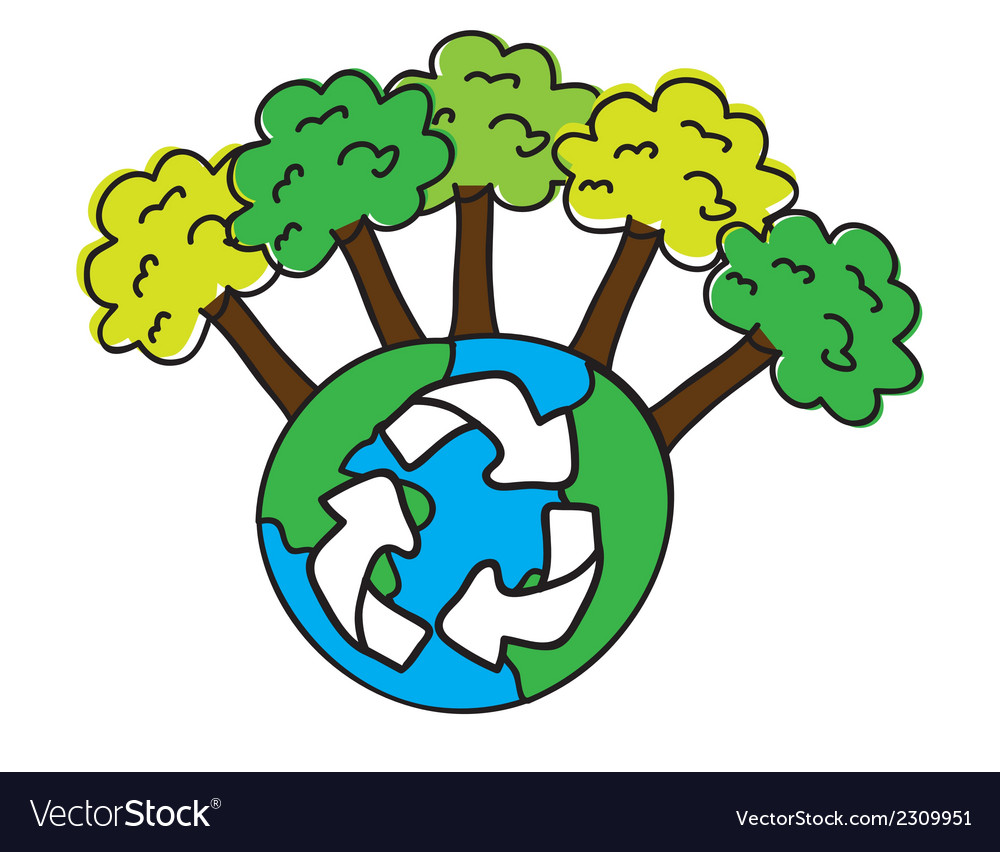 Recycle trees vector