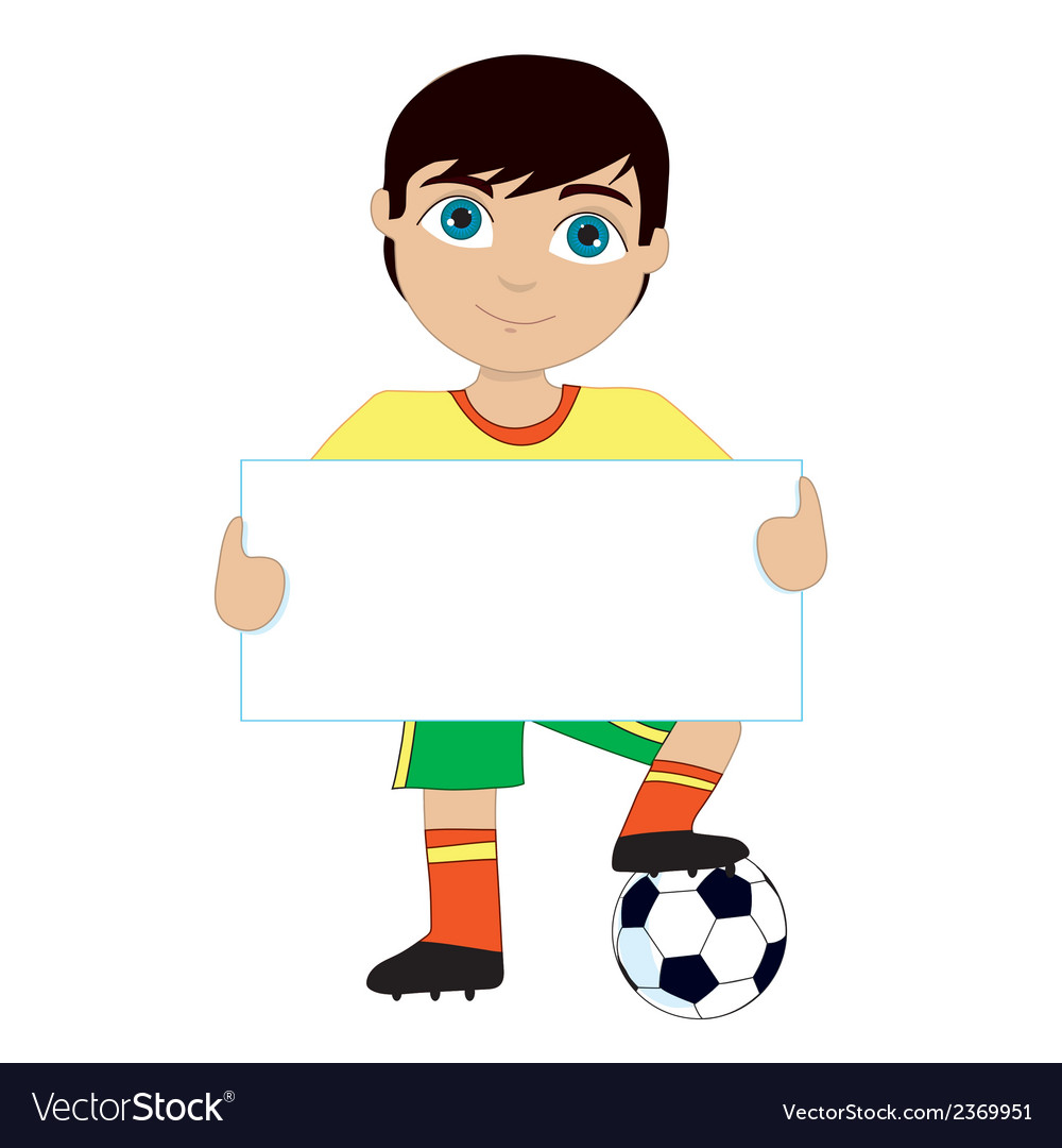 Soccer boy vector | Price: 1 Credit (USD $1)
