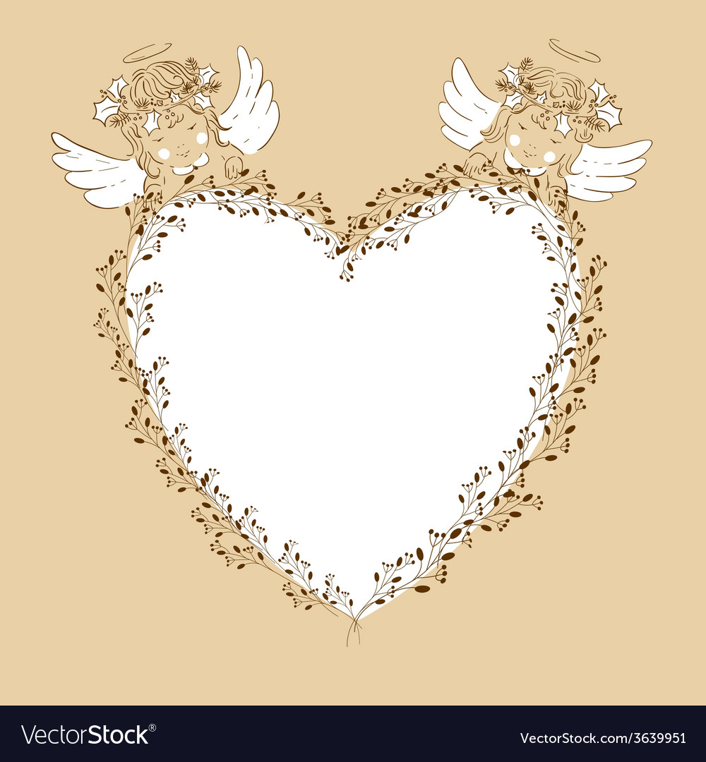 Two angels babies vector | Price: 1 Credit (USD $1)