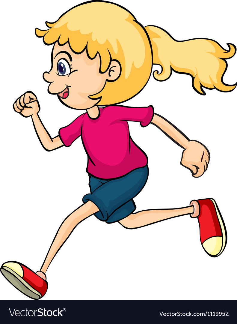 A running girl vector | Price: 1 Credit (USD $1)