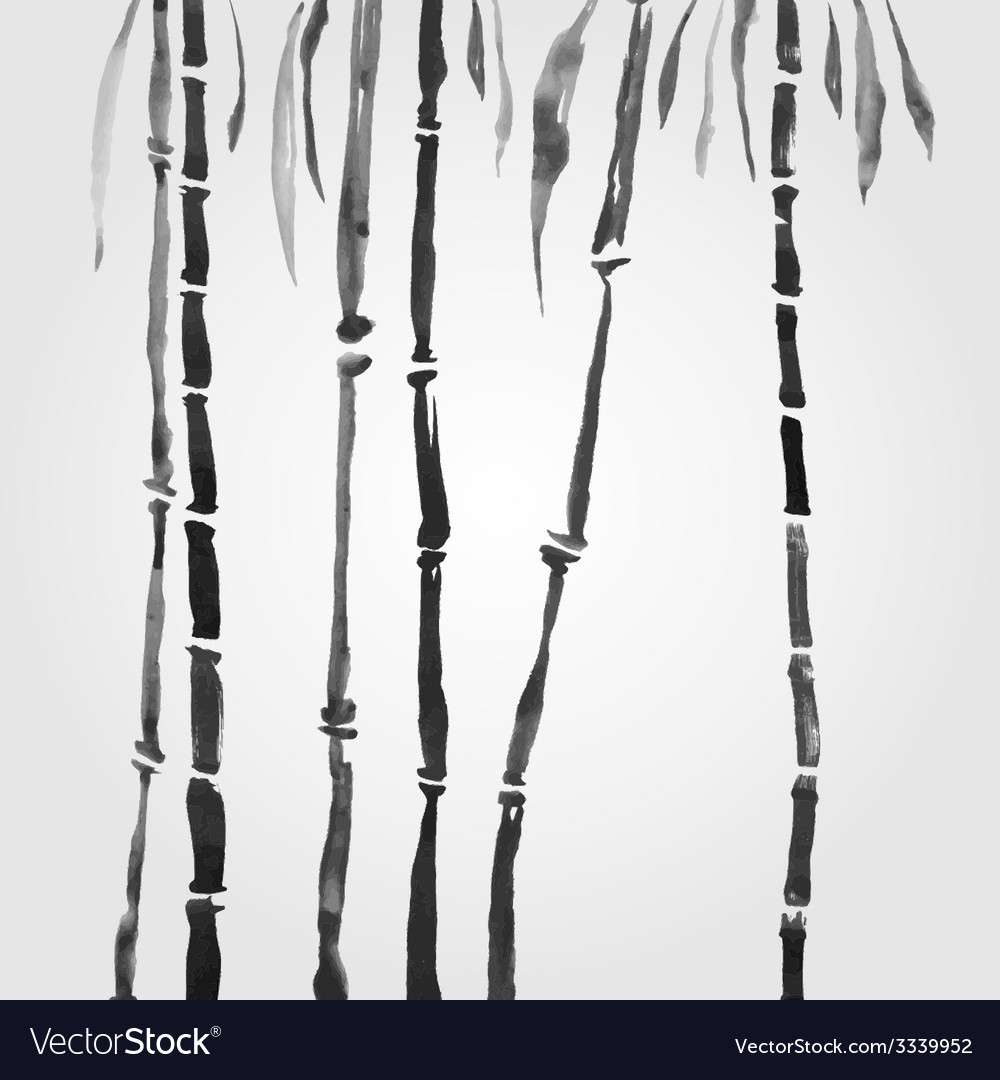 Bamboo in chinese style vector