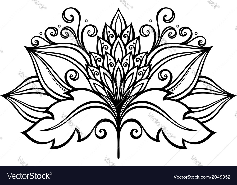 Beautiful decorative flower vector   Price: 1 Credit (USD $1)