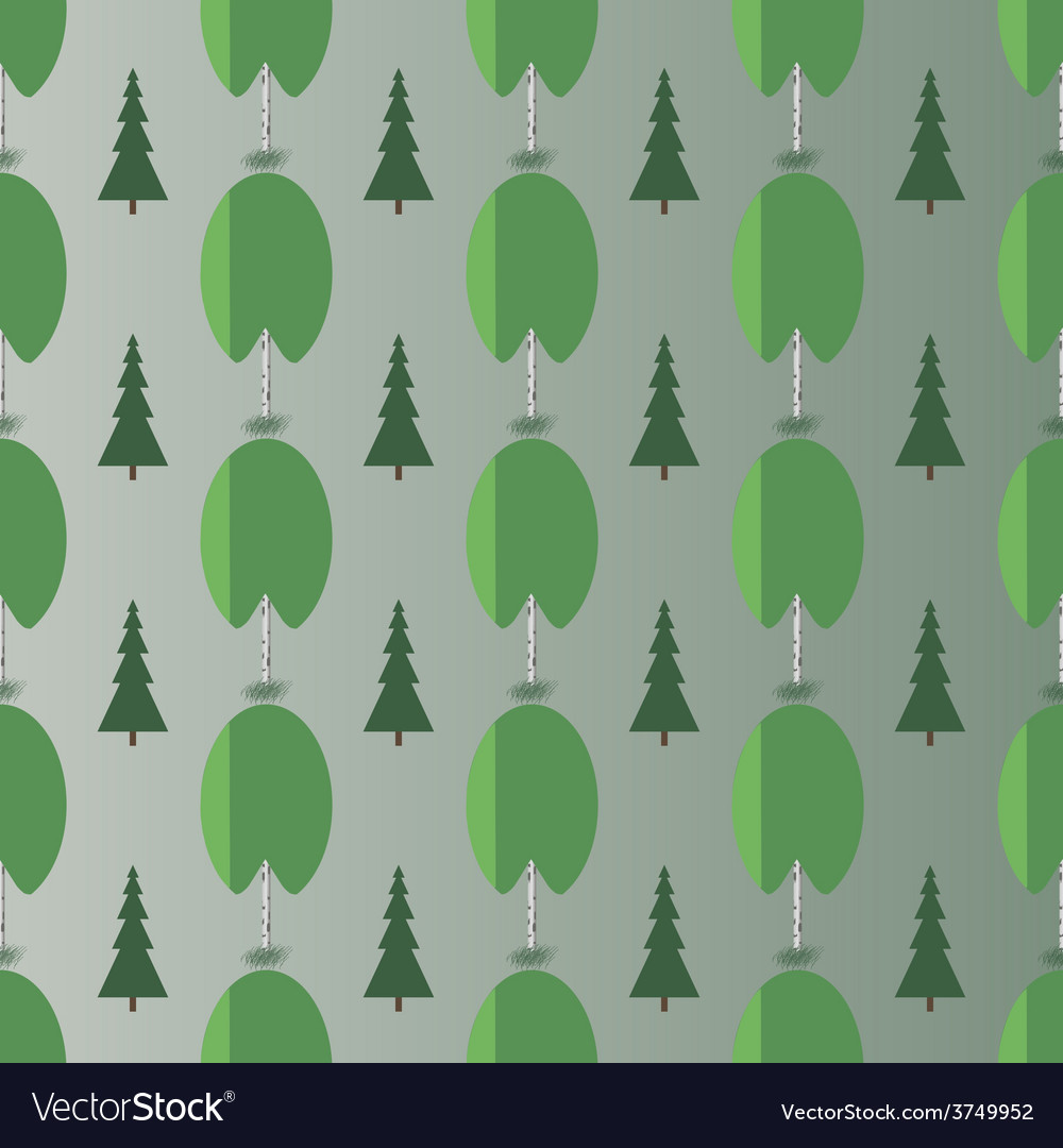 Birch and spruce vector | Price: 1 Credit (USD $1)