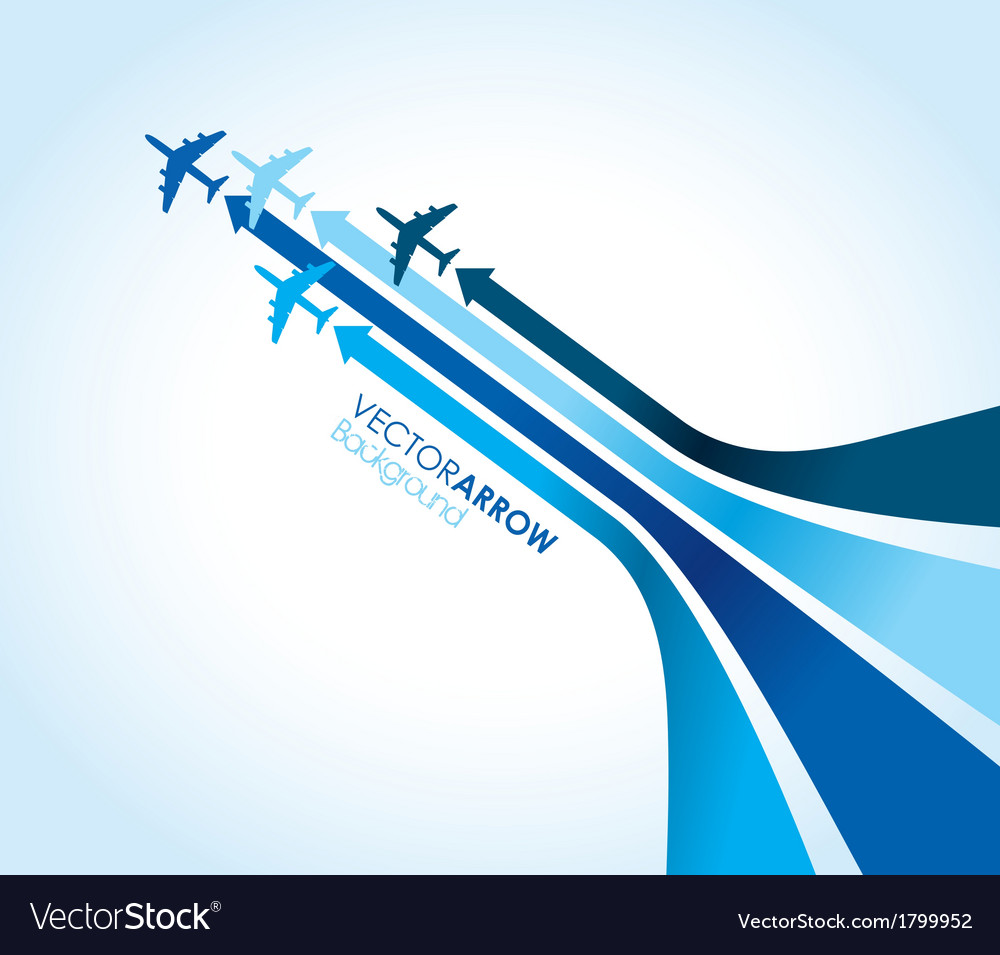 Blue planes vector | Price: 1 Credit (USD $1)