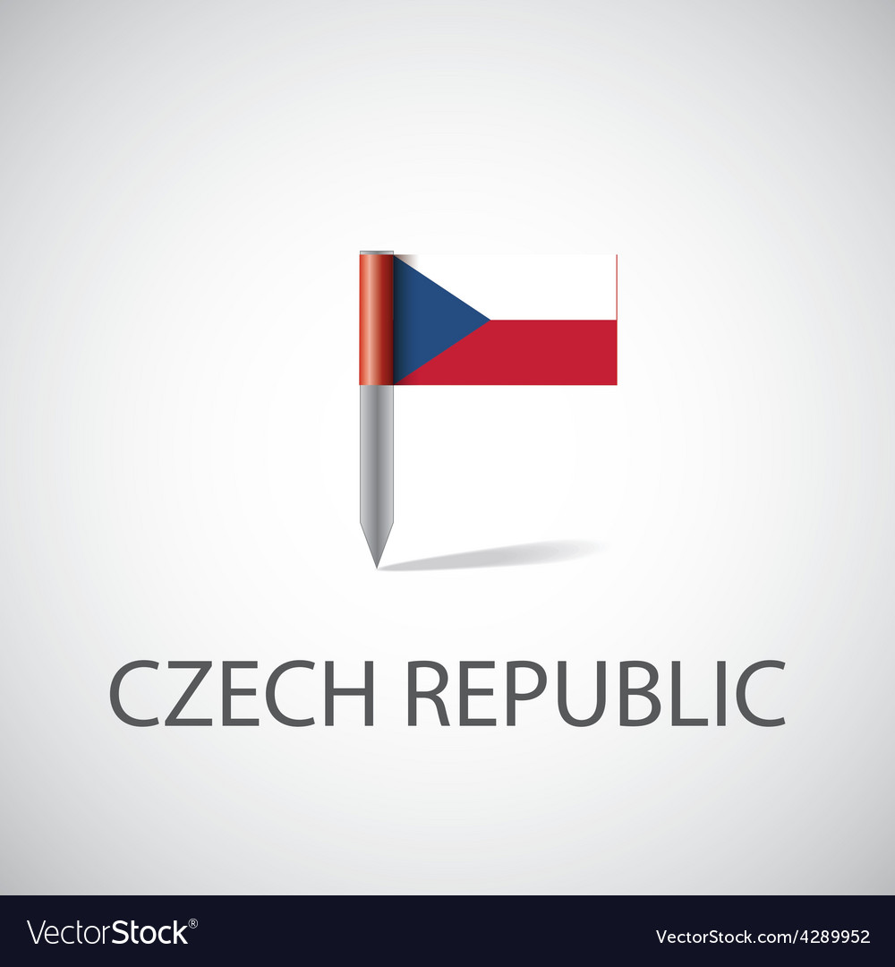 Czech flag pin vector | Price: 1 Credit (USD $1)