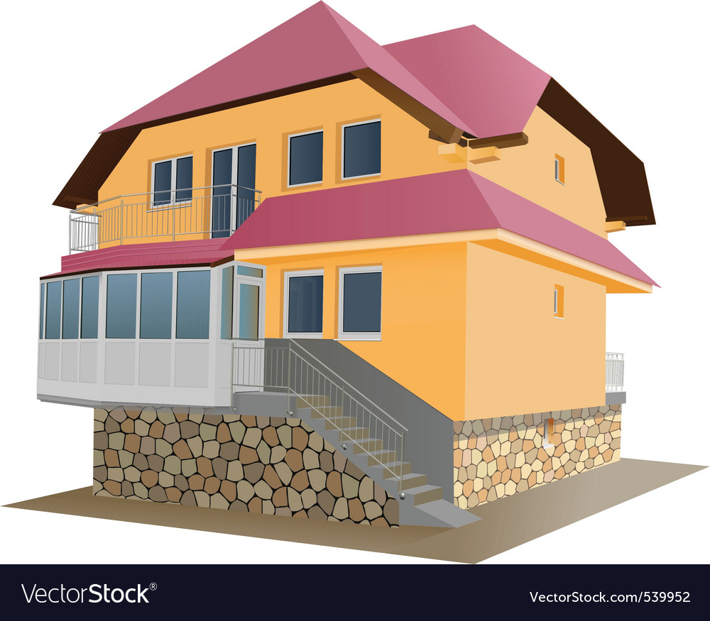 Floor house vector | Price: 3 Credit (USD $3)