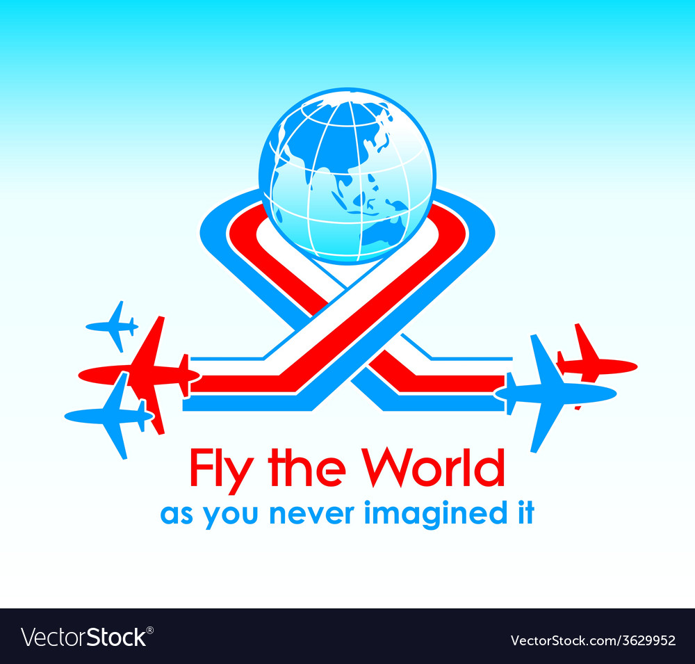 Fly around the world vector | Price: 1 Credit (USD $1)