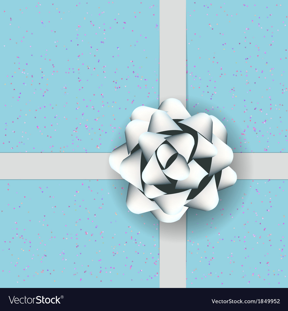 Gift box with white bow vector