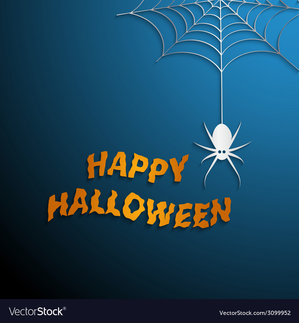Halloween spider web with blue background vector | Price: 1 Credit (USD $1)