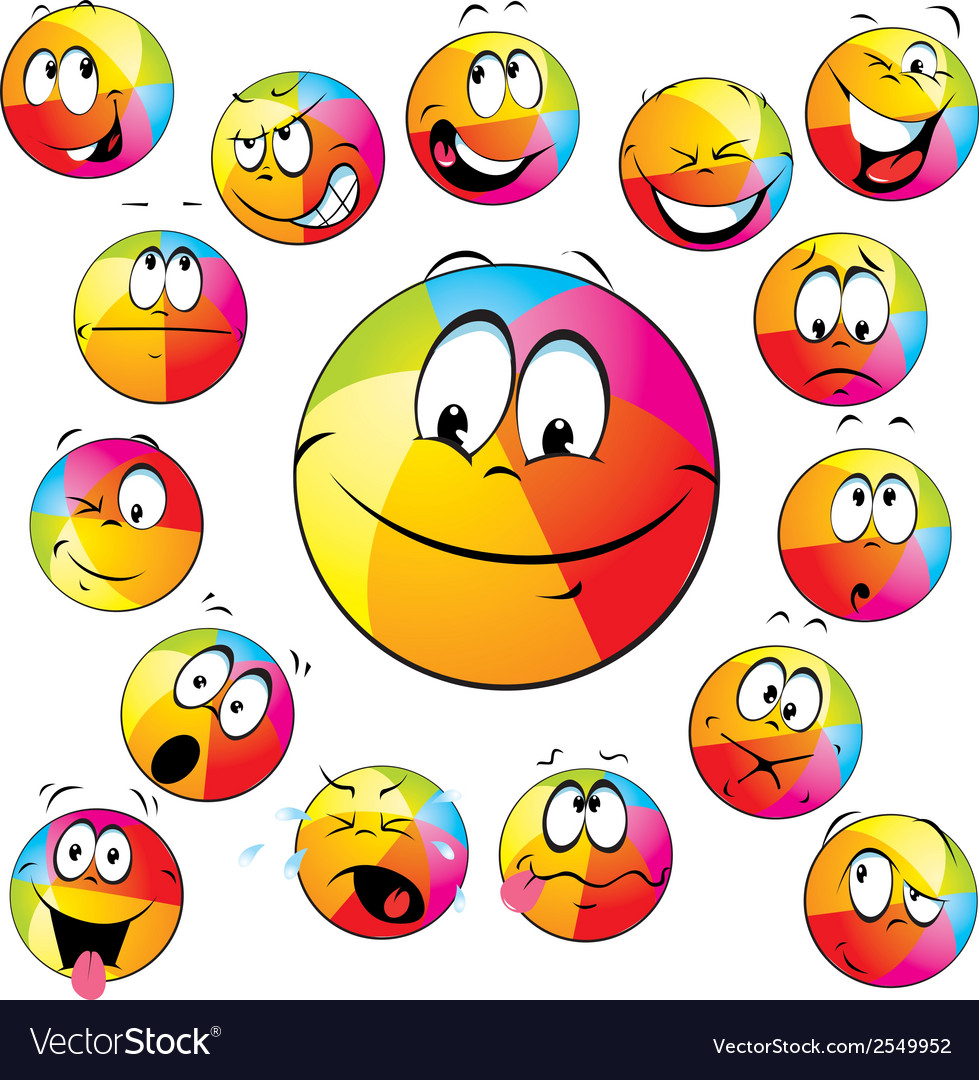 Happy beach ball vector | Price: 1 Credit (USD $1)