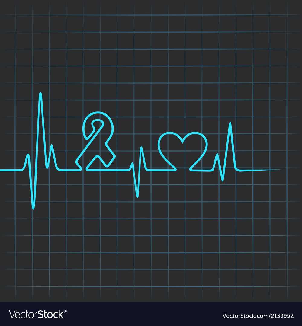 Heartbeat make aids and heart symbol stock vector | Price: 1 Credit (USD $1)