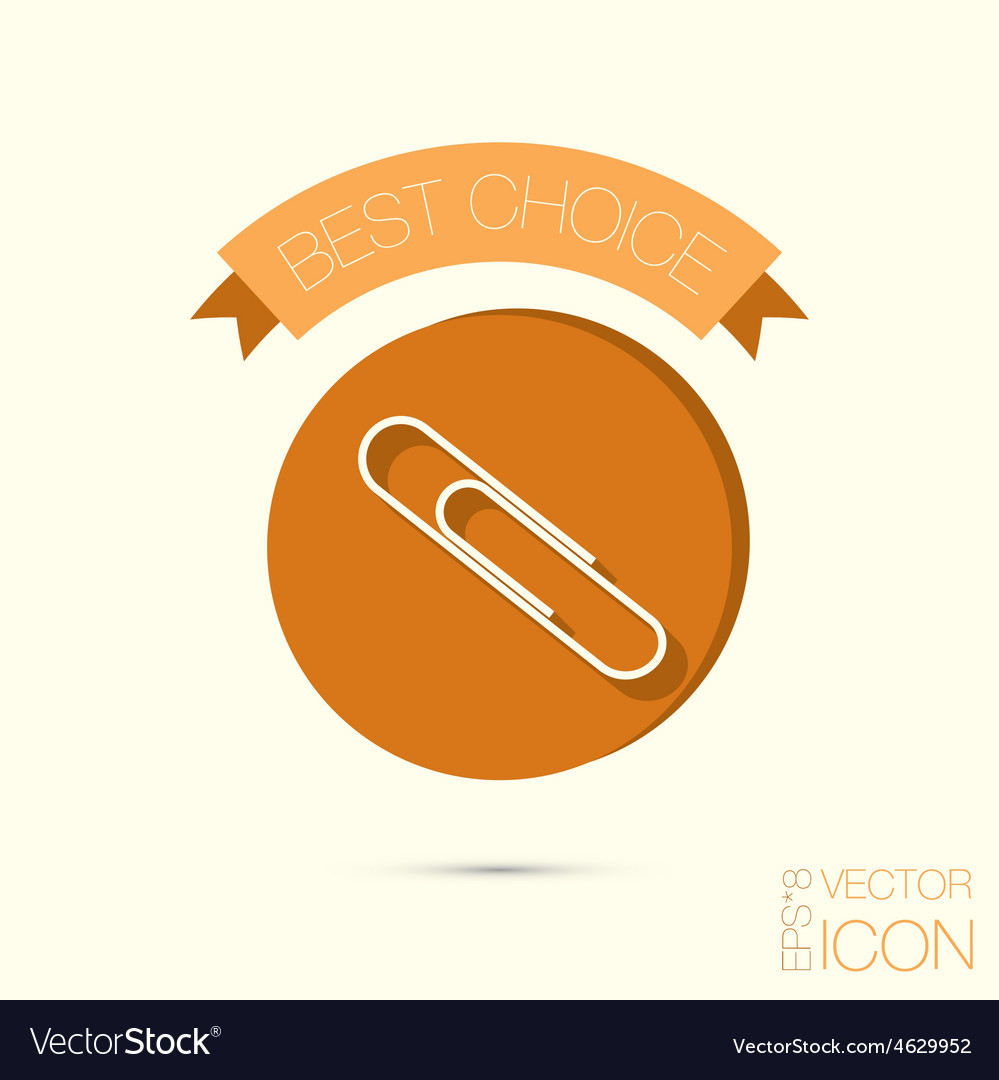 Paper clip icon a symbol of office vector   Price: 1 Credit (USD $1)