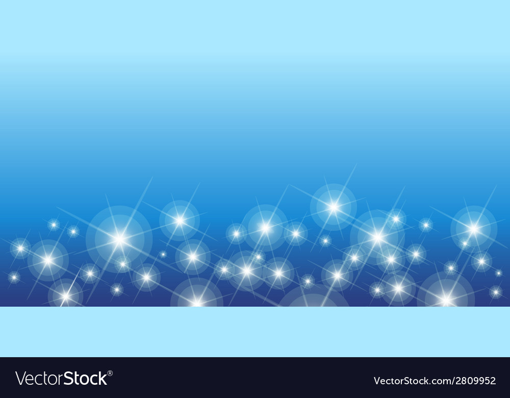 Shining stars on blue seamless horizontal pattern vector | Price: 1 Credit (USD $1)