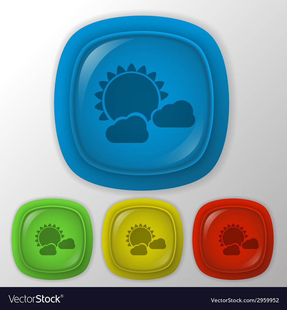 Sun behind the cloud the weather icon vector   Price: 1 Credit (USD $1)