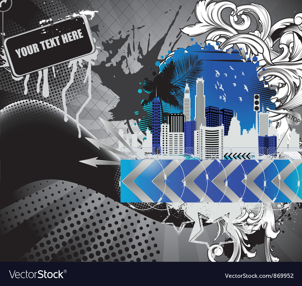 Urban background with city vector | Price: 1 Credit (USD $1)
