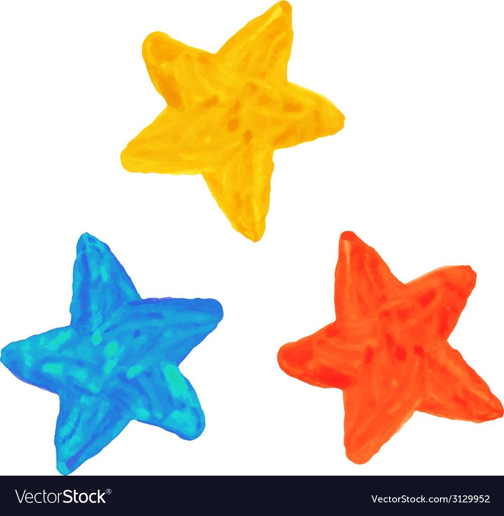 Watercolor stars vector | Price: 1 Credit (USD $1)
