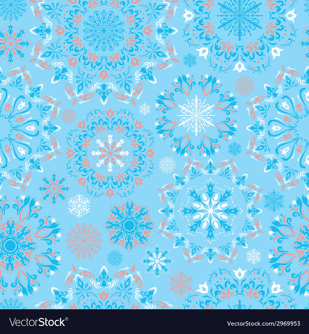 Blue snow pattern vector | Price: 1 Credit (USD $1)