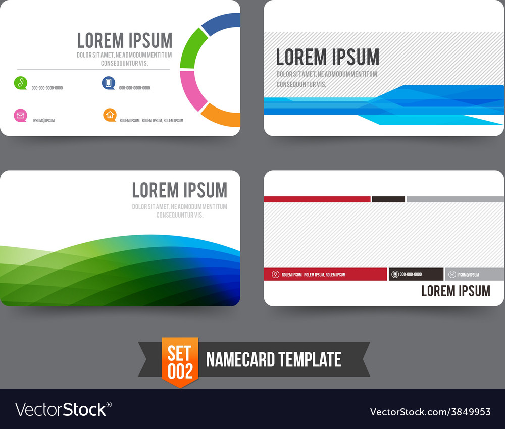 Business card template set 002 vector | Price: 1 Credit (USD $1)