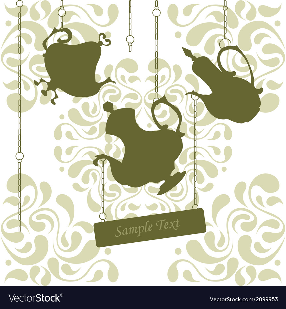 Chain coffeepots vector | Price: 1 Credit (USD $1)