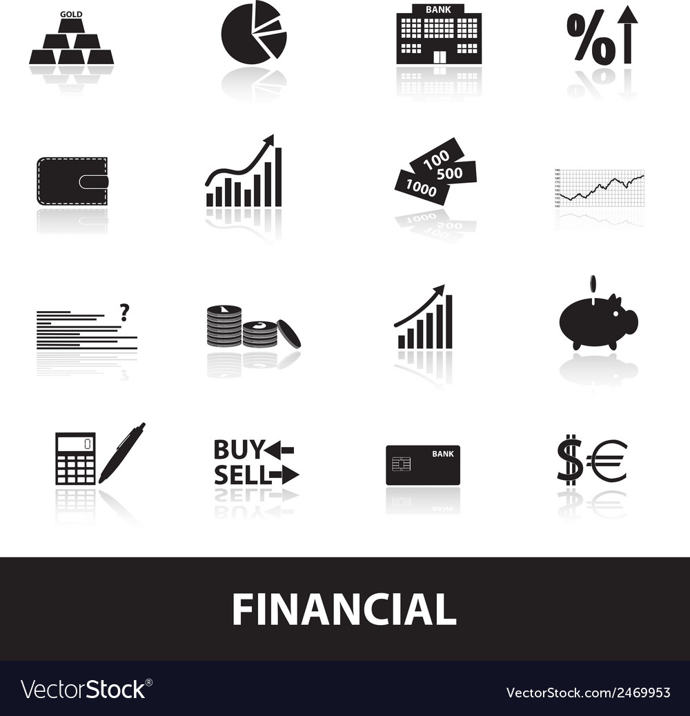 Financial and money icons eps10 vector | Price: 1 Credit (USD $1)