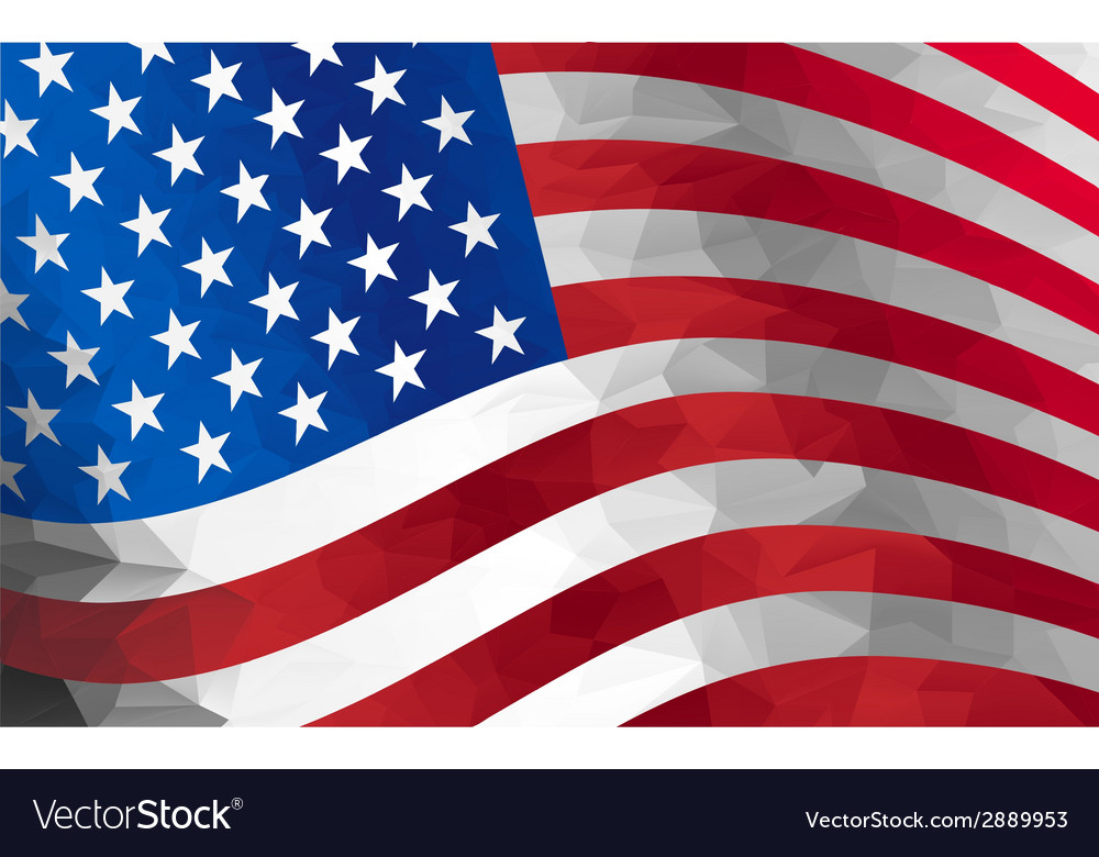 Flag us vector | Price: 1 Credit (USD $1)