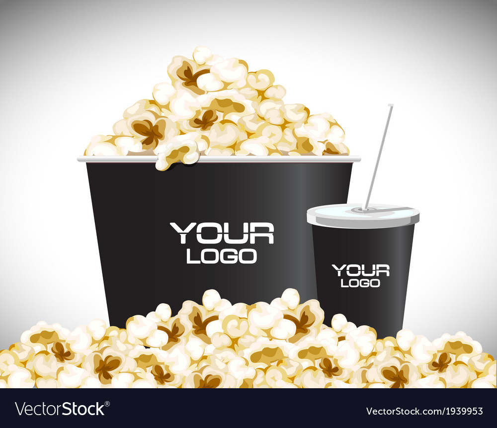 Movie popcon vector | Price: 1 Credit (USD $1)