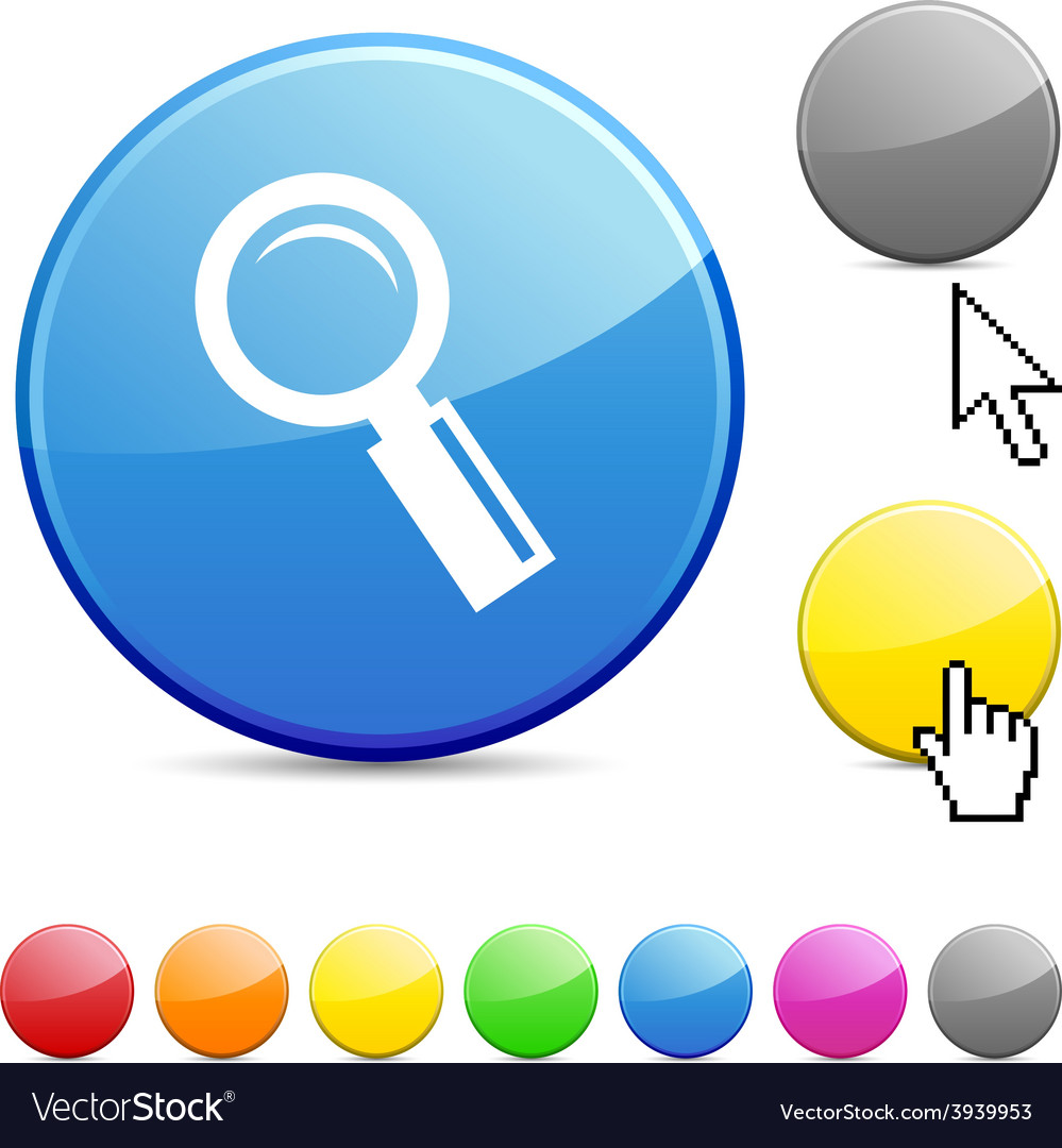 Searching glossy button vector | Price: 1 Credit (USD $1)
