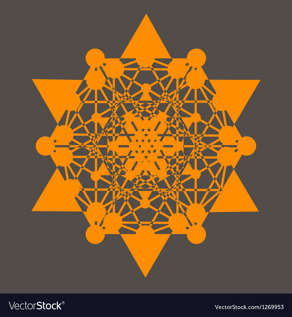 Star tetrahedron poster vector | Price: 1 Credit (USD $1)